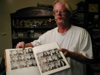 Spatz with High School Yearbook